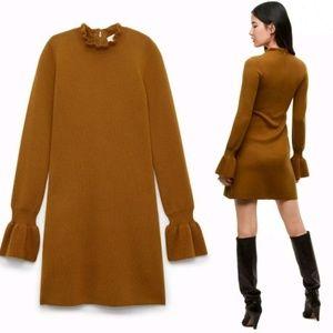 Aritzia Wilfred Carre Dress Italian Wool